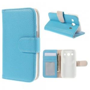 Samsung Galaxy Ace 4 - etui na telefon i dokumenty - jasnoniebieskie