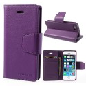 Apple iPhone 5 / 5S - etui na telefon i dokumenty - Sonata purpurowe