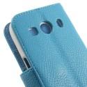 Samsung Galaxy Ace 4 Portfel Etui – PU Skóra Jasnoniebieski