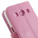 Samsung Galaxy Ace 4 Portfel Etui – PU Skóra Różowy