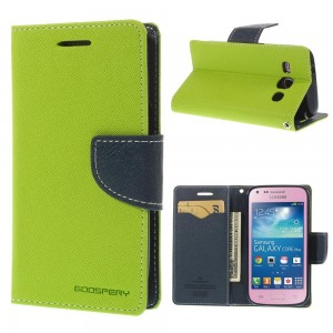 Samsung Galaxy Core Plus - etui na telefon i dokumenty - Fancy zielone