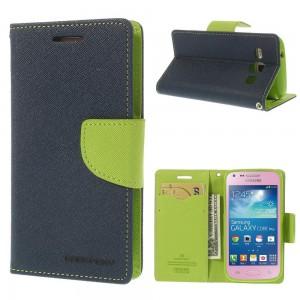 Samsung Galaxy Core Plus - etui na telefon i dokumenty - Fancy niebieskie
