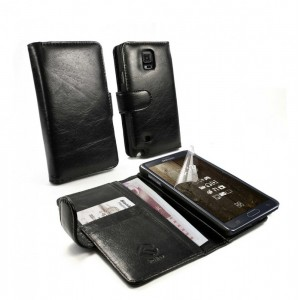 Samsung Galaxy Note 4 - etui na telefon i dokumenty - Tuff-Luv czarne