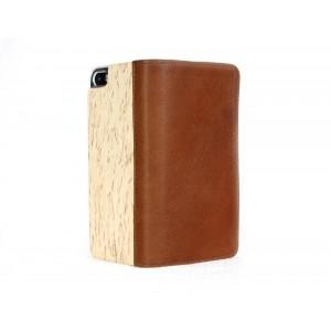 Apple iPhone 5 / 5S - etui na telefon i dokumenty - Lastu brązowe