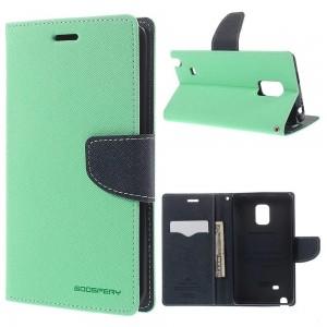 Samsung Galaxy Note Edge - etui na telefon i dokumenty - Fancy cyjan