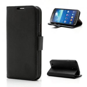 Samsung Galaxy S4 Active - etui na telefon i dokumenty - Litchi czarne