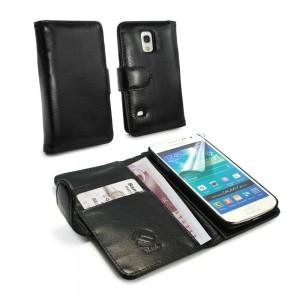Samsung Galaxy S5 Mini - etui skórzane na telefon i dokumenty -Tuff-Luv czarne