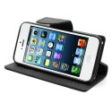 Apple iPhone 5 / 5S Portfel Etui – Fancy Czarne