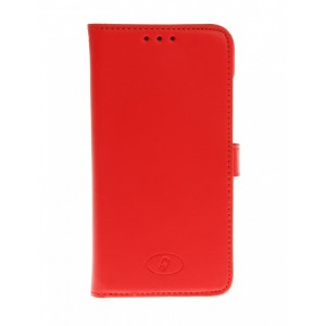 Huawei Ascend G630 - etui skórzane na telefon i dokumenty - Insmat czerwone