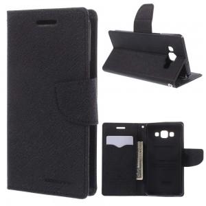 Samsung Galaxy A5 - etui na telefon i dokumenty - Fancy czarne