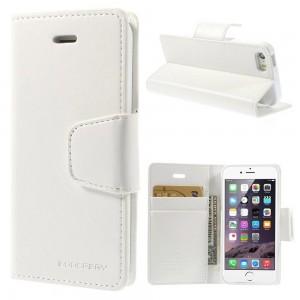 Apple iPhone 5 / 5S - etui na telefon i dokumenty - Sonata białe