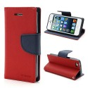 Apple iPhone 5 / 5S - etui na telefon i dokumenty - Fancy czerwone