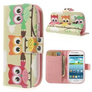 Samsung Galaxy S3 Mini - etui na telefon i dokumenty - Sowy 1
