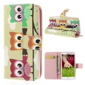 LG G2 Mini - etui na telefon i dokumenty - Sowy 1