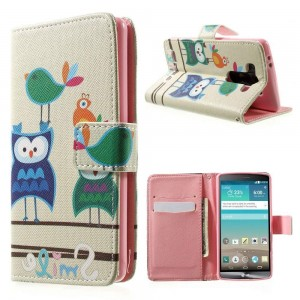 LG G3 S - etui na telefon i dokumenty - Sowy 1