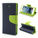 Apple iPhone 5 / 5S Portfel Etui – Fancy Niebieski