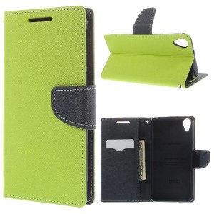 HTC Desire 820 - etui na telefon i dokumenty - Fancy zielone