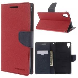 HTC Desire 820 - etui na telefon i dokumenty - Fancy czerwone