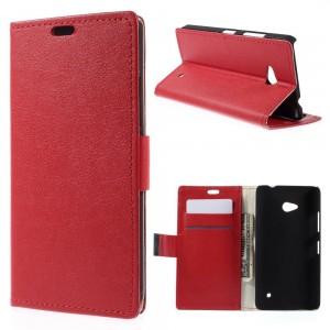 Microsoft Lumia 640 LTE - etui na telefon i dokumenty - Lychee czerwone