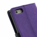 Apple iPhone 5 / 5S Portfel Etui – Fancy Purpurowy