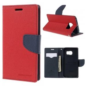 Samsung Galaxy S6 Edge - etui na telefon i dokumenty - Fancy czerwone (KR)