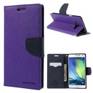 Samsung Galaxy A7 - etui na telefon i dokumenty - Fancy purpurowe