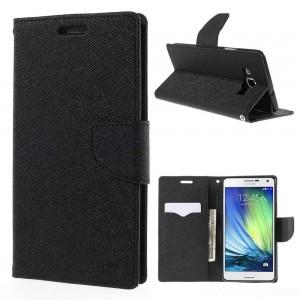 Samsung Galaxy A7 - etui na telefon i dokumenty - Fancy czarne