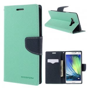 Samsung Galaxy A7 - etui na telefon i dokumenty - Fancy cyjan