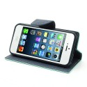 Apple iPhone 5 / 5S Portfel Etui – Fancy Cyjan