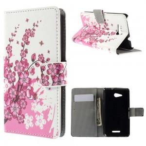 Sony Xperia E4g - etui na telefon i dokumenty - Kwiaty 1
