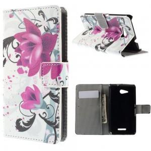 Sony Xperia E4g - etui na telefon i dokumenty - Kwiaty 2