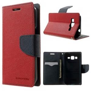 Samsung Galaxy Core Prime - etui na telefon i dokumenty - Fancy czerwone