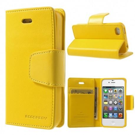 Apple iPhone 4 / 4S - etui na telefon i dokumenty - Sonata żółte