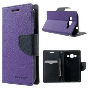 Samsung Galaxy Core Prime - etui na telefon i dokumenty - Fancy purpurowe