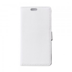 LG Leon 4G LTE - etui na telefon i dokumenty - Litchi białe