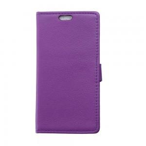 LG Leon 4G LTE - etui na telefon i dokumenty - Litchi purpurowe