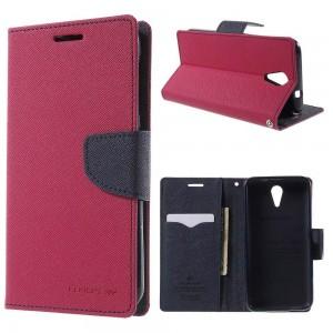 HTC Desire 620 - etui na telefon i dokumenty - Fancy różowe