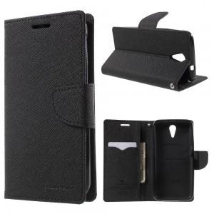 HTC Desire 620 - etui na telefon i dokumenty - Fancy czarne