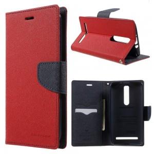 Asus Zenfone 2 ZE551ML - etui na telefon i dokumenty - Fancy czerwone