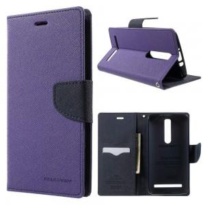 Asus Zenfone 2 ZE551ML - etui na telefon i dokumenty - Fancy purpurowe