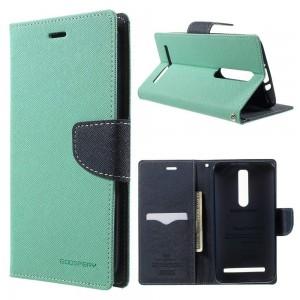 Asus Zenfone 2 ZE551ML - etui na telefon i dokumenty - Fancy cyjan