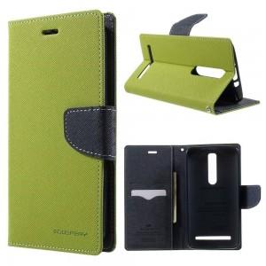 Asus Zenfone 2 ZE551ML - etui na telefon i dokumenty - Fancy zielone