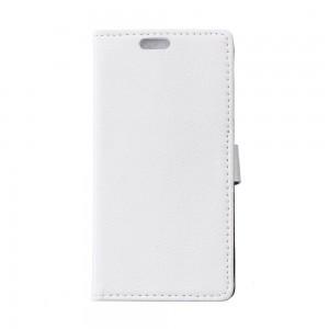 Sony Xperia E4g - etui na telefon i dokumenty - Litchi białe
