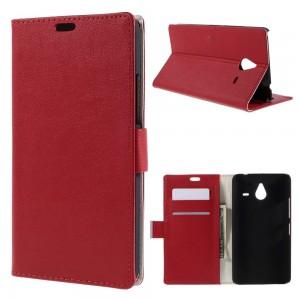 Microsoft Lumia 640 XL LTE - etui na telefon i dokumenty - Lychee czerwone