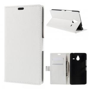 Microsoft Lumia 640 XL LTE - etui na telefon i dokumenty - Lychee białe