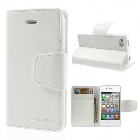 Apple iPhone 4 / 4S - etui na telefon i dokumenty - Sonata białe