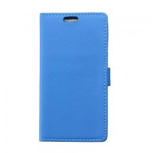 LG Joy - etui na telefon i dokumenty - Litchi niebieskie