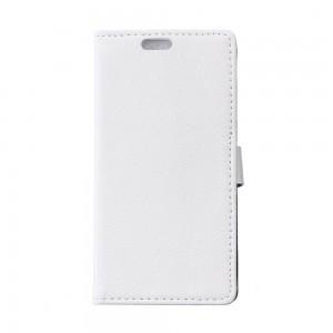 Huawei P8 - etui na telefon i dokumenty - Litchi białe
