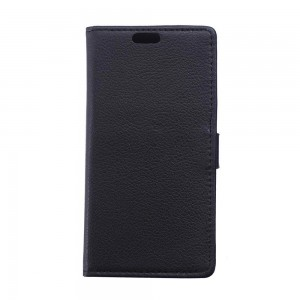 Huawei P8 - etui na telefon i dokumenty - Litchi czarne