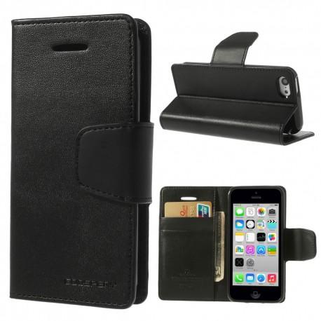 Apple iPhone 5C - etui na telefon i dokumenty - Sonata czarne